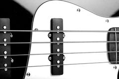 Bass guitar close up Stock Image