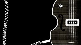 Bass Guitar con Jack Cable arrotolato illustrazione di stock