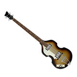 Bass guitar - 3D render. Beautiful detailed brown bass guitar in white background Stock Images
