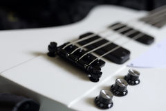 Bass guitar. Electric Black and white Bass Guitar Stock Photo