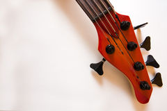 Bass Guitar Head details Royalty Free Stock Photography