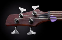 Bass guitar headstock Stock Photography