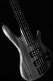 Bass Guitar. Heavy lectric Bass Wooden Detail stock photography