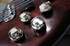Bass Guitar Knobs Stock Afbeeldingen