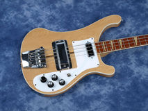 Bass Guitar light Wood body only royalty free stock photo