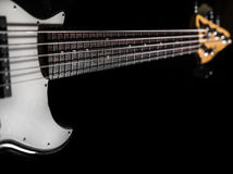 Bass guitar, musical instrument Stock Images