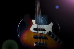 Bass guitar, musical instrument Stock Photo