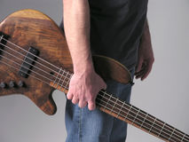 Bass guitar musician 4 stock photography