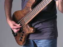 Bass guitar musician 5 stock images