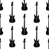 Bass guitar pattern. Bass guitar. Seamless vector pattern Stock Photo