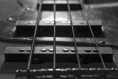 Bass Guitar Pickups Photographie stock libre de droits