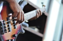 Bass Guitar Player imagem de stock