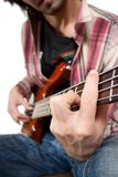 Bass guitar player Stock Photos