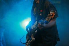 Bass Guitar Player Image stock