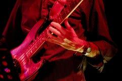 Bass Guitar Player Fotografia Stock Libera da Diritti