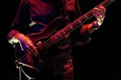 Bass Guitar Player Fotografia Stock
