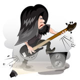 Bass guitar player Stock Photography