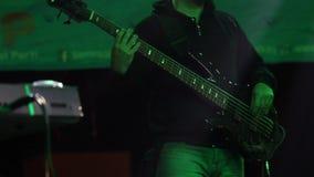 Bass Guitar Player stock video