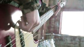 Bass Guitar Playing video d archivio