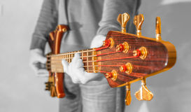 Bass Guitar playing musicians Royalty Free Stock Images