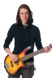 Bass Guitar practice Royalty Free Stock Images