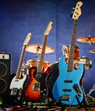 Bass guitar, rhythm, lead royalty free stock photography