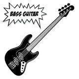 Bass guitar 4 strings. stock images