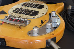 Bass guitar. Since bass syrinx low tones Stock Photography