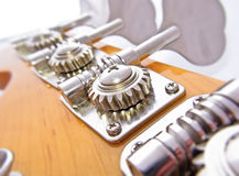 Bass Guitar Tuning Mechanism Stock Photography