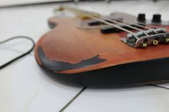 Bass Guitar for Wallpaper. This is a bass guitar just for wallpaper for desktop stock photography