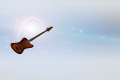 Bass Guitar y arco iris Serene Light Foto de archivo