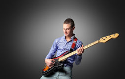 Bass guitarist Stock Photography