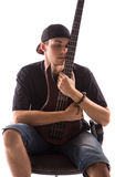 Bass Guitarist fotografia stock