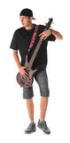 Bass Guitarist fotografia stock libera da diritti