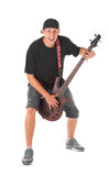 Bass guitarist. Royalty Free Stock Images