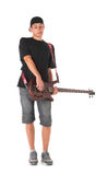 Bass guitarist. Royalty Free Stock Photography