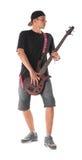 Bass guitarist. Royalty Free Stock Photo
