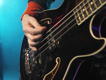 Bass Guitarist Performing imagem de stock royalty free
