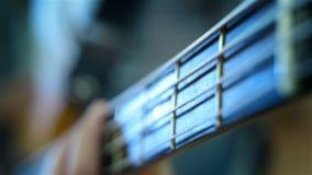 Bass Guitarist Playing video d archivio
