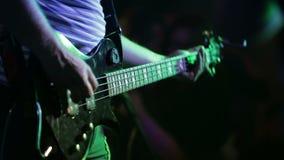 Bass Guitarist At Rock Concert video d archivio