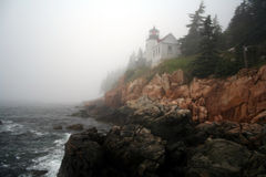 Bass Harbor. Lighthouse Royalty Free Stock Photography