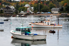 Bass Harbor Boats stock images