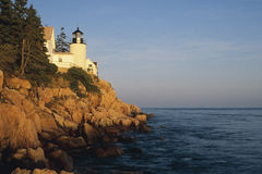 Bass Harbor Head. Lighthouse, Acadia National Park Maine stock images