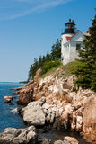 Bass Harbor Head Light Royaltyfri Bild