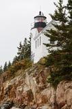 Bass Harbor Head Light. In Acadia National Park, Maine Royalty Free Stock Image