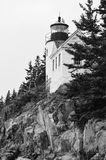 Bass Harbor Head Light. In Acadia National Park, Maine (black and white Stock Photo
