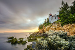 Bass Harbor Head Light, acadia parco nazionale, Maine Fotografie Stock Libere da Diritti