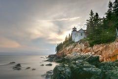 Bass Harbor Head Light Acadianationalpark, Maine Royaltyfri Bild