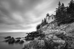 Bass Harbor Head Light Acadianationalpark, Maine Royaltyfria Bilder