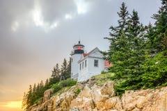 Bass Harbor Head Light Acadianationalpark, Maine Arkivbild